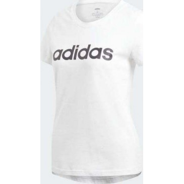 Adidas Essentials Linear Tee DU0629 ΛΕΥΚΟ