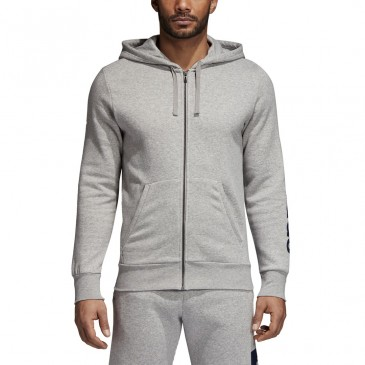 Adidas Hooded Track Top Ess Lin BQ9636 ΓΚΡΙ