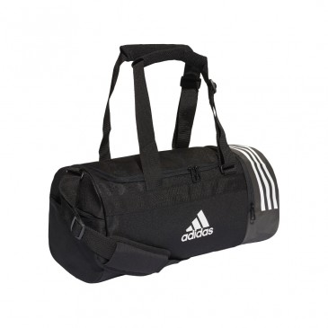CONVERTIBLE 3 STRIPES DUFFEL BAG S CG1532 ΜΑΥΡΟ