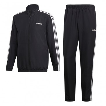 Adidas 3-Stripes Woven Cuffed Track Suit DV2464  ΜΑΥΡΟ