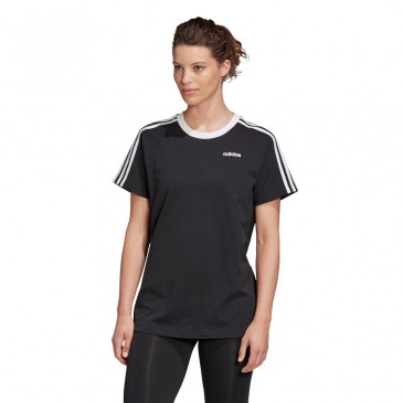 3 Stripes Essential Boyfriend Tee FN5776 ΜΑΥΡΟ