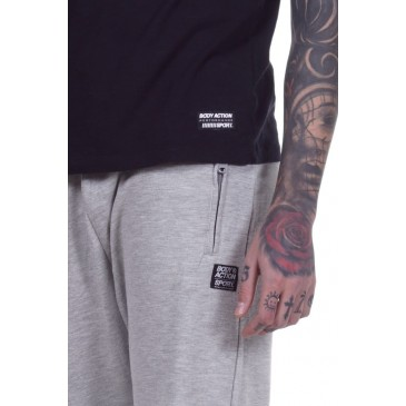 MEN CLASSIC SWEATPANTS 023002-ΓΚΡΙ ΓΚΡΙ