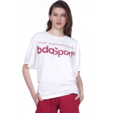WOMEN ACTIVE LOOSE T-SHIRT 051006-ΛΕΥΚΟ ΛΕΥΚΟ