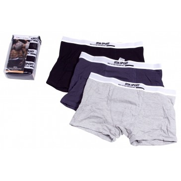 MEN 3-PACK BOXER BRIEFS 093911-ΜΠΛΕ ΜΠΛΕ