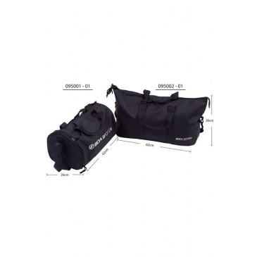SPORTS GYM BAG WITH SHOES COMPARTMENT 095001-ΜΑΥΡΟ ΜΑΥΡΟ