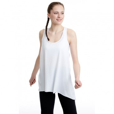 BDTKW LONG LOOSE TANK TOP 50MODAL 50CO 1201-901221-200 ΛΕΥΚΟ