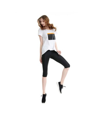 BDTKW HIGHWAIST LEGGINGS 3/4 95PES 5EA 1201-903016-100 ΜΑΥΡΟ