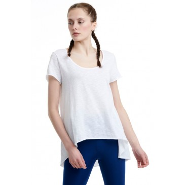BDTKW LONG LOOSE TSHIRT 100CO  1201-903528-200 ΛΕΥΚΟ