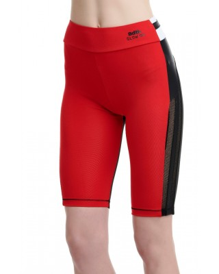 BDTKW HIGHWAIST CYCLIST LEGGINGS 2/4 95PES 5EA  1201-908114-300 ΚΟΚΚΙΝΟ