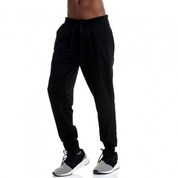 BDTKM CARRY OVER REGULAR JOGGER PANTS - MEDIUM CROTCH 80 CO 20PES  1201-950900-100 ΜΑΥΡΟ