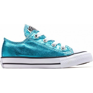 Converse All Star Chuck Taylor Ox Metallic Aqua 755560C  ΠΕΤΡΟΛ