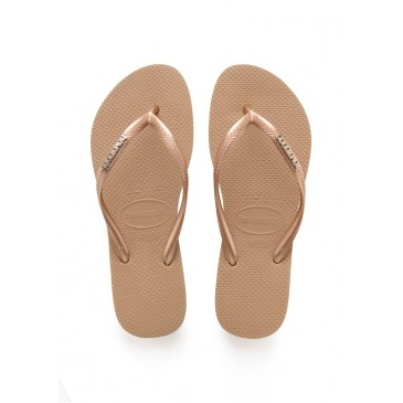 HAVAIANAS SLIM LOGO METALLIC ROSE GOLD/ROSE GOLD  4119875.5282 ΡΟΖ/ΧΡΥΣΟ