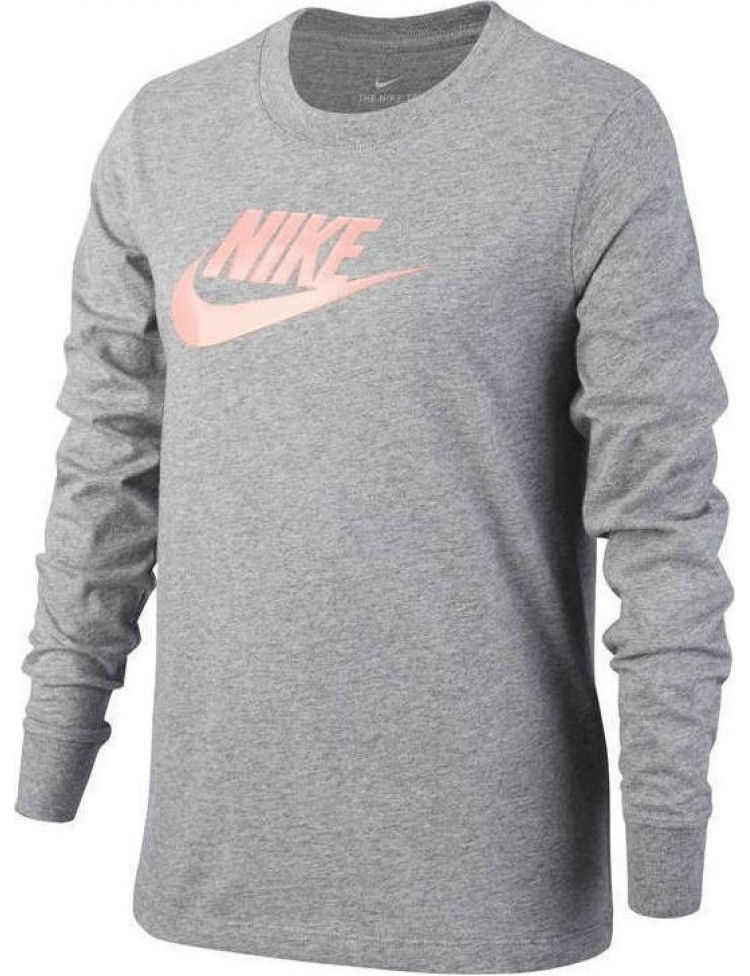 Nike G NSW Tee LS Essentials Futura Hook CI8295-091 ΓΚΡΙ