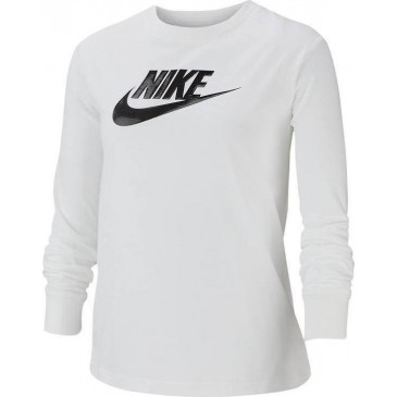 Nike G NSW Tee LS Essentials Futura Hook CI8295-100 ΛΕΥΚΟ