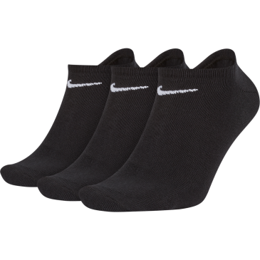 Unisex Nike Cushioned No-Show Sock (3 Pair) SX2554-001 ΜΑΥΡΟ