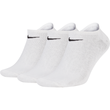 Unisex Nike Cushioned No-Show Sock (3 Pair) SX2554-101 ΛΕΥΚΟ