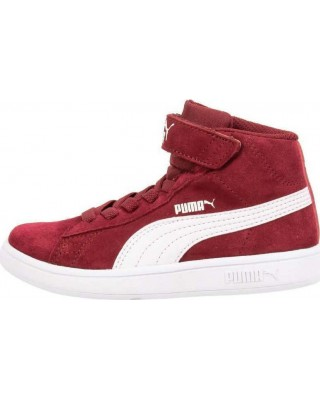366885 Puma Smash v2 Mid V PS  366885-07 ΚΟΚΚΙΝΟ