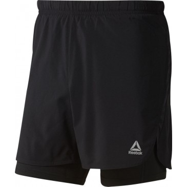 Reebok Run Essentials Two-in-one Shorts DU4307 ΜΑΥΡΟ