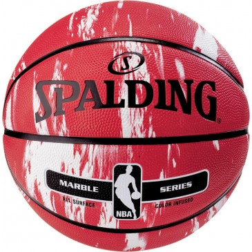 NBA MARBLE SERIES RED WITH WHITE SIZE 7 83-634Z1 7