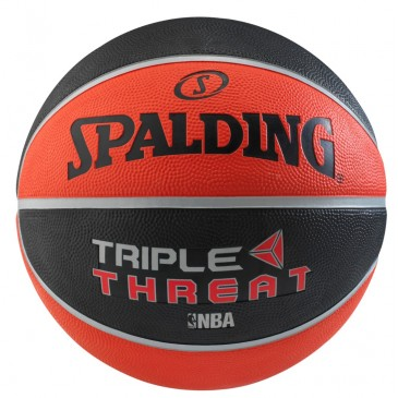 TRIPLE THREAT COLOR RUBBER BASKETBALL Sz 7 83-182Z1 NC