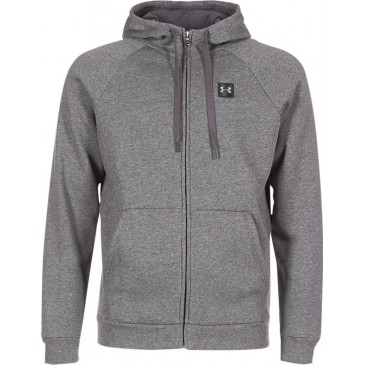 Under Armour Rival Fleece Fz Hoodie 1320737-020  ΓΚΡΙ