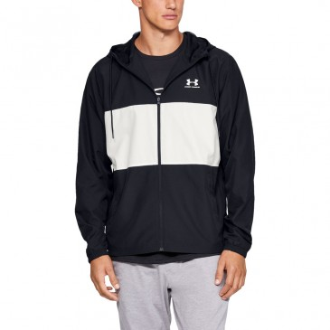 Under Armour Sportstyle Wind 1329297-001 ΜΑΥΡΟ ΑΣΠΡΟ