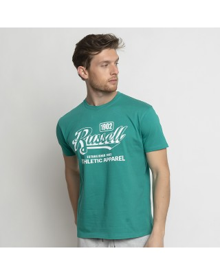 RUSSELL ATHLETIC 1902 - S/S  CREWNECK TEE SHIRT A1007-1-221 P3 ΠΡΑΣΙΝΟ