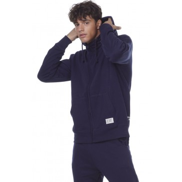 BODYACTION MEN FLEECE FULL-ZIP SWEATSHIRT 073006-01-ΜΠΛΕ ΜΠΛΕ
