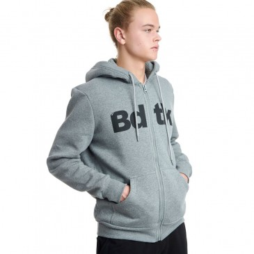 BDTKMCL HOODED ZIP SWEATER  1202-950022-54680      ΓΚΡΙ