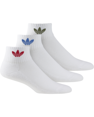 ADIDAS ORIGINALS MID ANKLE SOCK 3 PACK GN3083 ΛΕΥΚΟ