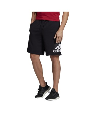 ADIDAS Must Have BOS Short French Terry DX7662 ΜΑΥΡΟ/ΛΕΥΚΟ