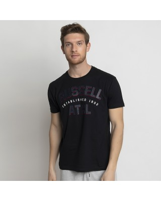 RUSSELL ATHLETIC ATHL-S/S  CREWNECK TEE SHIRT A1034-1-099 ΜΑΥΡΟ