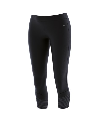 WOMENS HIGH WAISTED 3/4 TIGHTS 21044-ΜΑΥΡΟ ΜΑΥΡΟ