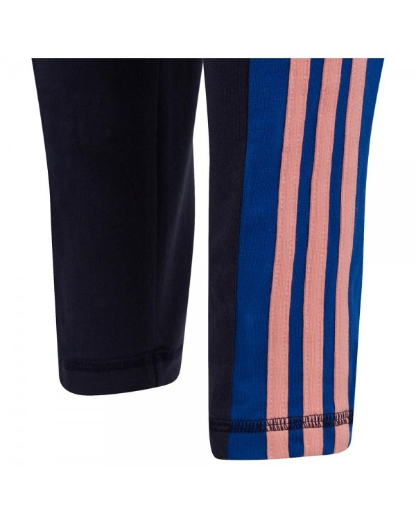 Young Girls 3 Stripes Tight GD6213 ΜΠΛΕ