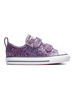 CHUCK TAYLOR ALL STAR 2V COATED GLITTER 770178C ΡΟΖ