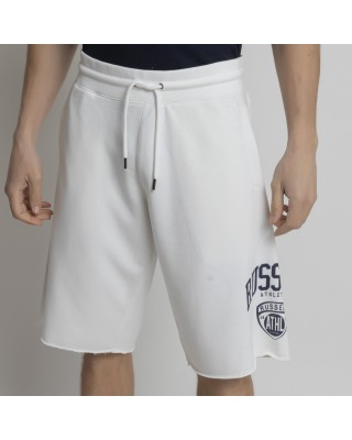 RUSSELL ATHLETIC ATHL-COLLEGIATE RAW EDGE SHORTS A1062-1-001 ΛΕΥΚΟ