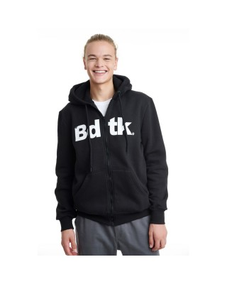 BDTKMCL HOODED ZIP SWEATER  1202-950022-100 ΜΑΥΡΟ