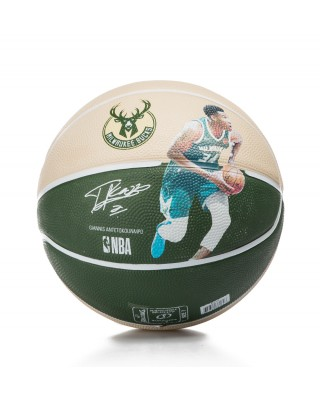 NEW NBA PLAYER BUCKS GIANNIS ANTETOKOUNMPO size 7 83-836Z1 MULTI