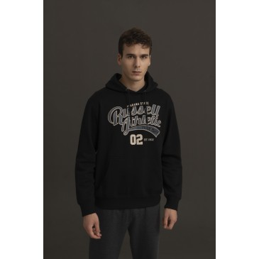 ALABAMA STATE -PULLOVER HOODY A0014-2-099 ΜΑΥΡΟ