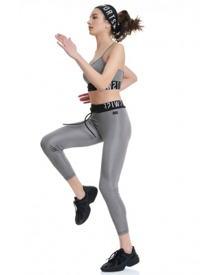BDTKW HIGH WAISTED LEGGINGS 4/4 # 90%PES 10%EA     1211-909006-726 ΑΣΗΜΙ