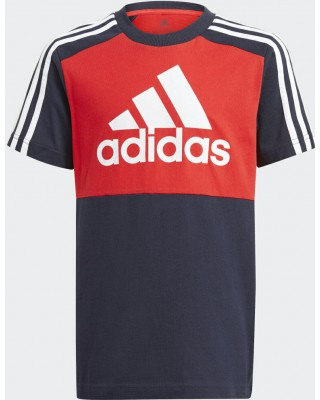 ADIDAS Essentials Colorblock Tee GN3980 ΚΟΚΚΙΝΟ