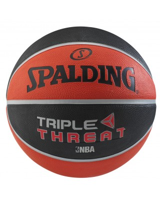 TRIPLE THREAT COLOR RUBBER BASKETBALL Sz 7 83-182Z1 ΜΑΥΡΟ