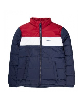 Mens P.P. Down Jkt with Roll-in Hood 192.EM10.65 BLUE/WHITE/RED