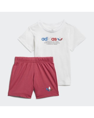 ADIDAS ORIGINALS adicolor short tee set GN7415 ΛΕΥΚΟ