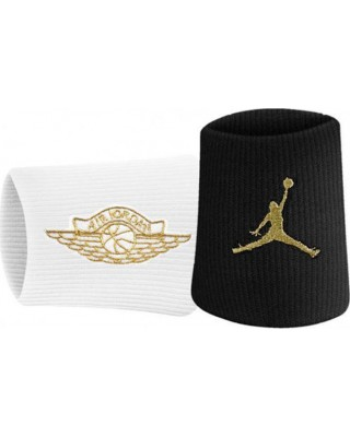 JORDAN JUMPMAN X WINGS WRISTBANDS 2.0 J.000.3598-092 ΜΑΥΡΟ