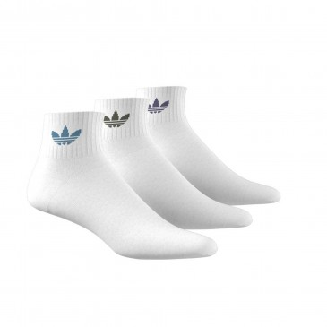 MID ANKLE SOCK 3 PACK GD3572 ΛΕΥΚΟ