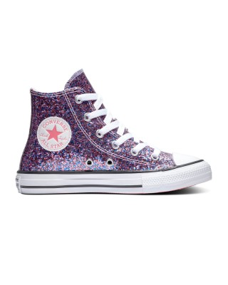 CHUCK TAYLOR ALL STAR COATED GLITTER 670176C ΡΟΖ