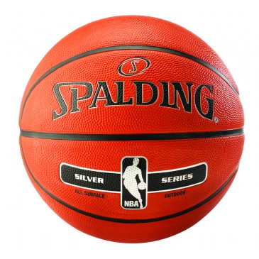 NBA SILVER SERIES OUTDOOR SIZE 7 RUBBER BASKETBALL 83-494Z1 MULTI
