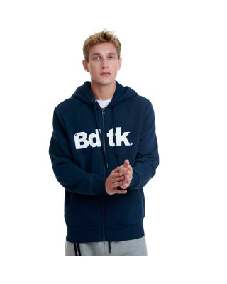 BDTKMCL HOODED ZIP SWEATER  1202-950022-423 ΜΠΛΕ