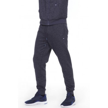 BODYACTION MEN SLIM FIT SWEAT PANTS 023011-01-ΜΠΛΕ ΜΠΛΕ